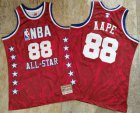 Cheap 1988 All-Star AAPE x MITCHELL & NESS Red Jersey
