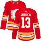 Cheap Adidas Flames #13 Johnny Gaudreau Red Alternate Authentic Women's Stitched NHL Jersey