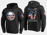 Cheap Sabres #47 Zach Bogosian NHL Banner Wave Usa Flag Black Hoodie