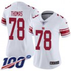 Cheap Nike Giants #78 Andrew Thomas White Women's Stitched NFL 100th Season Vapor Untouchable Limited Jersey