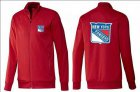 Cheap NHL New York Rangers Zip Jackets Red