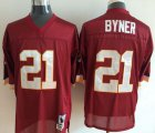 Cheap Mitchell And Ness Redskins #21 Earnest Byner Red Throwback Stitched NFL Jersey