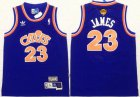 Cheap Youth Cleveland Cavaliers #23 LeBron James Blue Throwback 2016 The NBA Finals Patch Jersey
