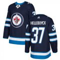 Cheap Adidas Jets #37 Connor Hellebuyck Navy Blue Home Authentic Stitched Youth NHL Jersey