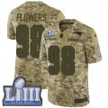 Cheap Nike Patriots #98 Trey Flowers Camo Super Bowl LIII Bound Men's Stitched NFL Limited 2018 Salute To Service Jersey