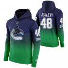 Cheap Vancouver Canucks #48 Olli Juolevi Adidas Reverse Retro Pullover Hoodie Green
