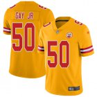 Cheap Nike Chiefs #50 Willie Gay Jr. Gold Youth Stitched NFL Limited Inverted Legend Jersey