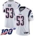 Cheap Nike Patriots #53 Josh Uche White Youth Stitched NFL 100th Season Vapor Untouchable Limited Jersey