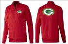 Cheap NFL Green Bay Packers Team Logo Jacket Red