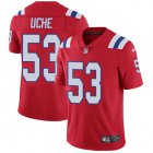 Cheap Nike Patriots #53 Josh Uche Red Alternate Youth Stitched NFL Vapor Untouchable Limited Jersey