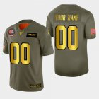 Cheap Nike Browns Custom Men's Olive Gold 2019 Salute to Service NFL 100 Limited Jersey