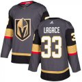 Cheap Adidas Golden Knights #33 Maxime Lagace Grey Home Authentic Stitched NHL Jersey