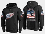 Cheap Red Wings #83 Trevor Daley NHL Banner Wave Usa Flag Black Hoodie