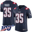 Cheap Nike Patriots #35 Kyle Dugger Navy Blue Youth Stitched NFL Limited Rush 100th Season Jersey