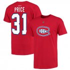 Cheap Montreal Canadiens #31 Carey Price Reebok Name and Number Player T-Shirt Red