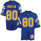 Cheap Mitchell And Ness Chargers #80 Kellen Winslow Blue Throwback Stitched NFL Jersey