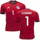 Cheap Egypt #1 Elhadary Red Home Soccer Country Jersey