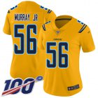 Cheap Nike Chargers #56 Kenneth Murray Jr Gold Women's Stitched NFL Limited Inverted Legend 100th Season Jersey