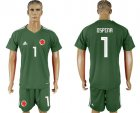 Cheap Colombia #1 Ospina Green Goalkeeper Soccer Country Jersey