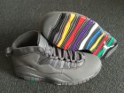 Cheap Air Jordan 10 Retro Rainbow Sole Wolf Grey