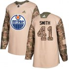 Cheap Adidas Oilers #41 Mike Smith Camo Authentic 2017 Veterans Day Stitched Youth NHL Jersey