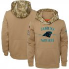 Cheap Youth Carolina Panthers Nike Khaki 2019 Salute to Service Therma Pullover Hoodie