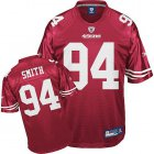 Cheap 49ers #94 Justin Smith Red Stitched NFL Jersey