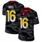 Cheap Los Angeles Rams #16 Jared Goff Men's Nike 2020 Black CAMO Vapor Untouchable Limited Stitched NFL Jersey
