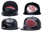 Cheap NFL Kansas City Chiefs Team Logo Black Reflective Adjustable Hat A65