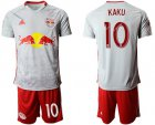 Cheap Red Bull #10 Kaku White Home Soccer Club Jersey
