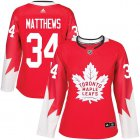 Cheap Adidas Maple Leafs #34 Auston Matthews Red Team Canada Authentic Women's Stitched NHL Jersey