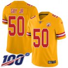 Cheap Nike Chiefs #50 Willie Gay Jr. Gold Youth Stitched NFL Limited Inverted Legend 100th Season Jersey