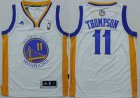 Cheap Youth Golden State Warriors #11 Klay Thompson White NBA Adidas Jersey