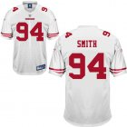 Cheap 49ers #94 Justin Smith White Stitched NFL Jersey