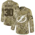Cheap Adidas Lightning #30 Ben Bishop Camo Authentic Stitched NHL Jersey