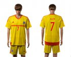 Cheap Wales #7 Allen Away Soccer Country Jersey
