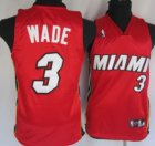Cheap Miami Heat #3 Dwyane Wade Red Kid Jersey