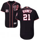 Cheap Nationals #21 Tanner Rainey Navy Blue Flexbase Authentic Collection Stitched MLB Jersey