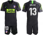 Cheap Atletico Madrid #13 Oblak Black Goalkeeper Soccer Club Jersey