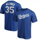 Cheap Los Angeles Dodgers #35 Cody Bellinger Majestic 2019 Postseason Name & Number T-Shirt Royal