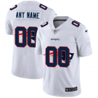 Cheap New England Patriots Custom White Men's Nike Team Logo Dual Overlap Limited NFL Jersey