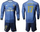 Cheap Real Madrid #17 Lucas.V Away Long Sleeves Soccer Club Jersey