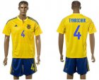 Cheap Ukraine #4 Tymoschuk Home Soccer Country Jersey