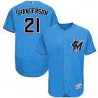 Cheap marlins #21 Curtis Granderson Blue Flexbase Authentic Collection Stitched MLB Jersey