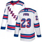 Cheap Adidas Rangers #23 Adam Foxs White Road Authentic Stitched NHL Jersey