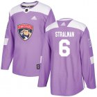Cheap Adidas Panthers #6 Anton Stralman Purple Authentic Fights Cancer Stitched NHL Jersey