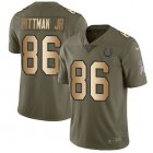 Cheap Nike Colts #86 Michael Pittman Jr. Olive/Gold Youth Stitched NFL Limited 2017 Salute To Service Jersey
