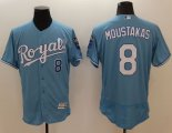 Cheap Royals #8 Mike Moustakas Light Blue Flexbase Authentic Collection Stitched Baseball Jersey