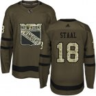 Cheap Adidas Rangers #18 Marc Staal Green Salute to Service Stitched Youth NHL Jersey