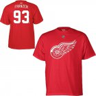 Cheap Detroit Red Wings #93 Johan Franzen Reebok Name and Number Player T-Shirt Red